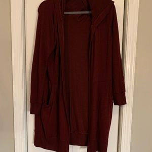Alter'd state Burgundy long sweater, size medium